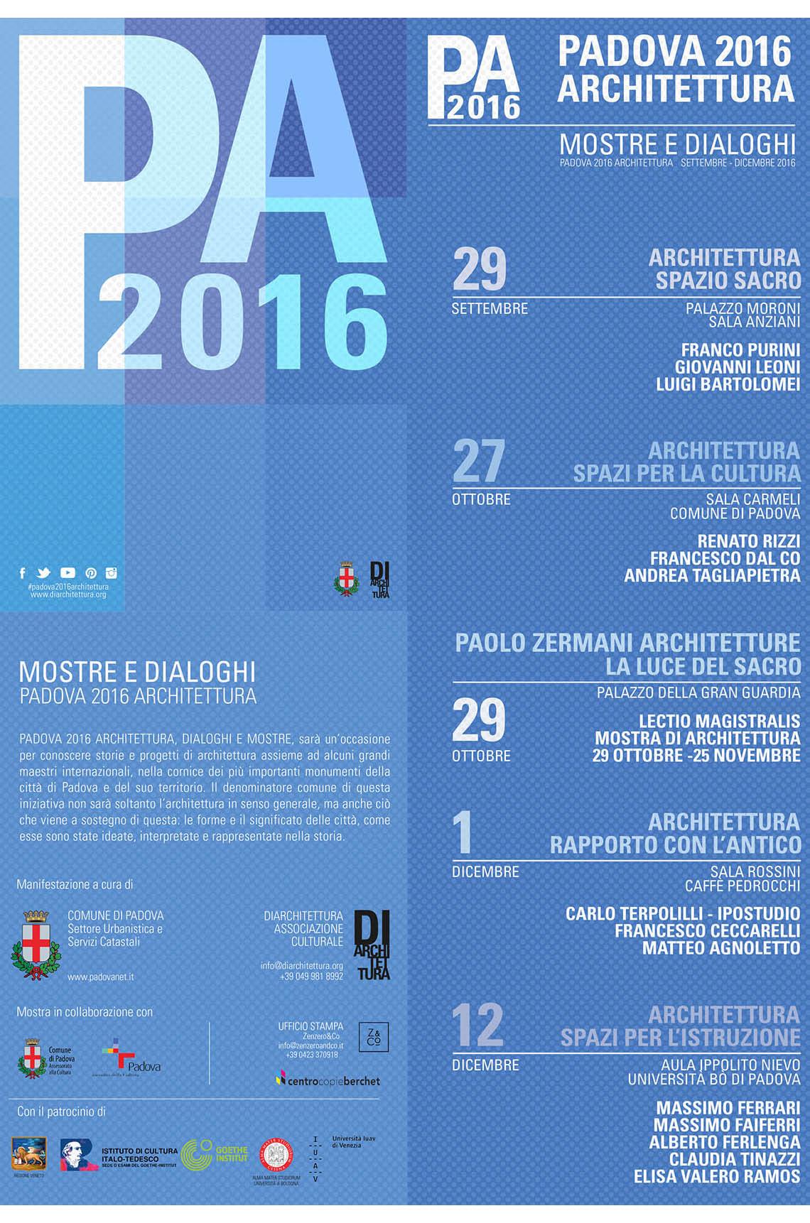 Padova 2016 Architettura - Programma